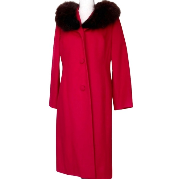 Vintage Handmade Red Fur Coat